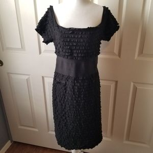 Max Studio black ruffled lined sexy cocktail dress